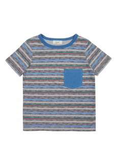 Peek...Aren't You Curious Peek Aren't You Curious Liam Stripe Pocket T-Shirt (Toddler, Little Boy & Big Boy)