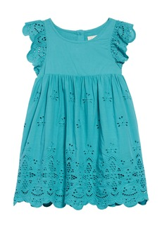 Peek...Aren't You Curious Peek Aren't You Curious Michele Eyelet Embroidered Dress (Toddler, Little Girl & Big Girl)
