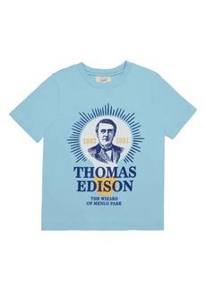 Peek...Aren't You Curious Peek Aren't You Curious Thomas Edison T-Shirt (Toddler Boys & Little Boys)