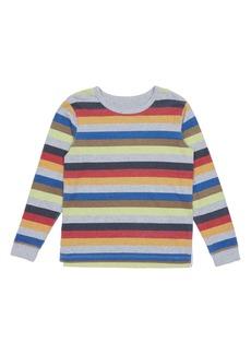 Peek...Aren't You Curious Peek Aren't You Curious Tom Stripe Long Sleeve T-Shirt (Toddler Boys, Little Boys & Big Boys)