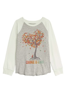 Peek...Aren't You Curious Peek Aren't You Curious Why Leaves Change Baseball Graphic Tee (Toddler, Little Girl & Big Girl)