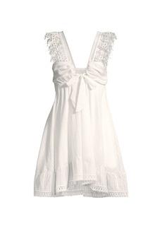 Peixoto Farrah Lace Trim Mini Dress