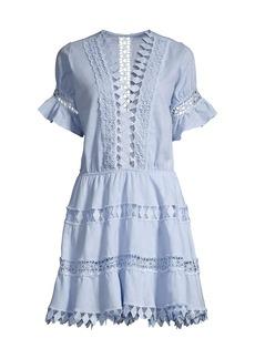 Peixoto Ora Embroidered Mini Dress