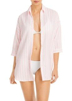 Peixoto Josie Striped Shirt Swim Cover-Up - 100% Exclusive