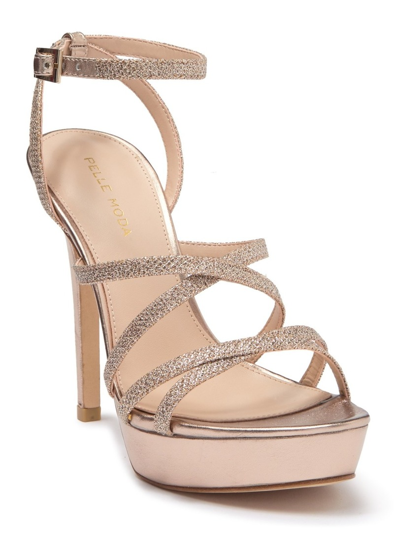 Pelle Moda Oak Metallic Strappy Stiletto Sandal