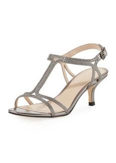 Pelle Moda Abbie Embellished Metallic Sandal