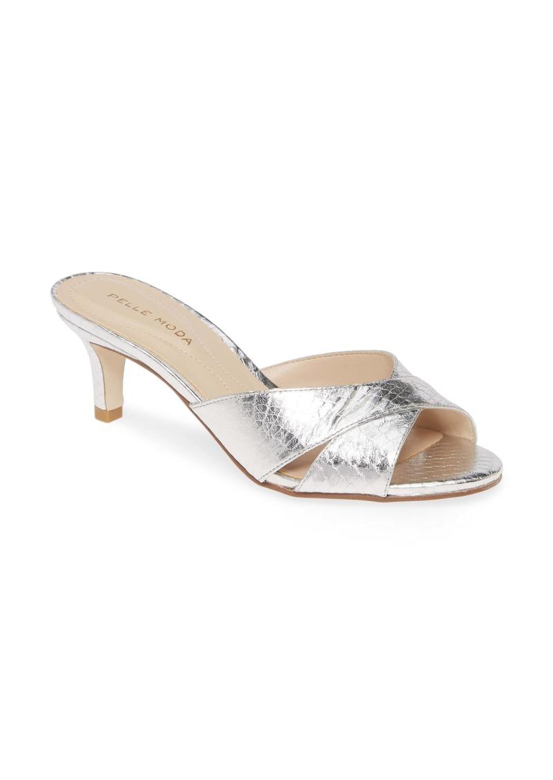 Pelle Moda Bea Snake Embossed Sandal (Women)