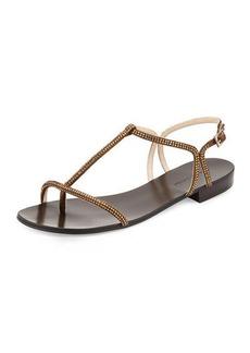 Pelle Moda Becca Crystal T-Strap Sandal