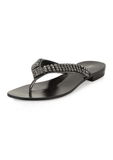 Pelle Moda Best Embellished Flat Sandal
