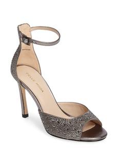 Pelle Moda Crystal Embellished Ankle Strap Sandal (Women)