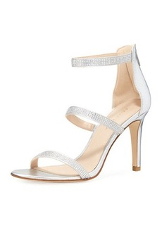 Pelle Moda Dalia Embellished Metallic Sandal