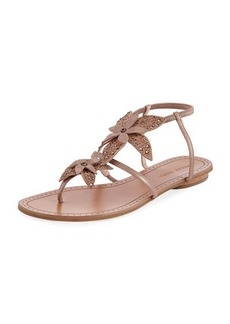 Pelle Moda Ellis Flower Flat Sandal