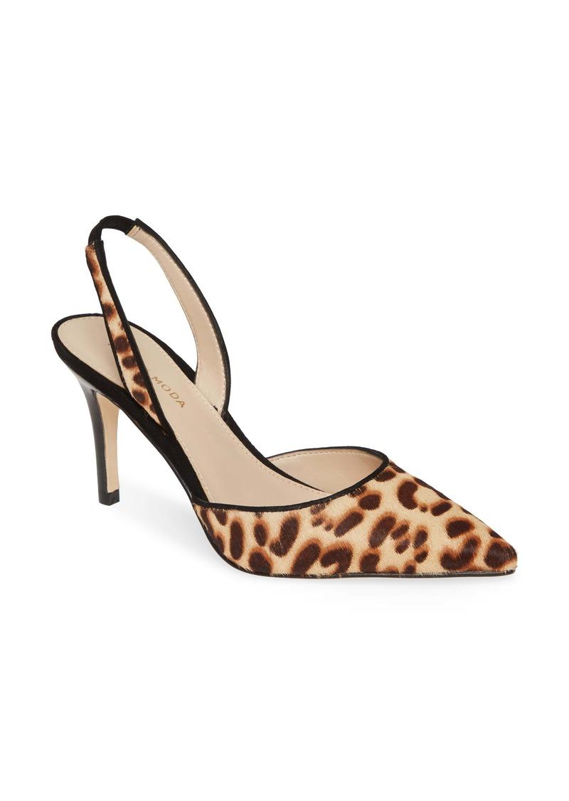 Pelle Moda Ima Pointed Toe Genuine Calf Hair Slingback Pump (Women)