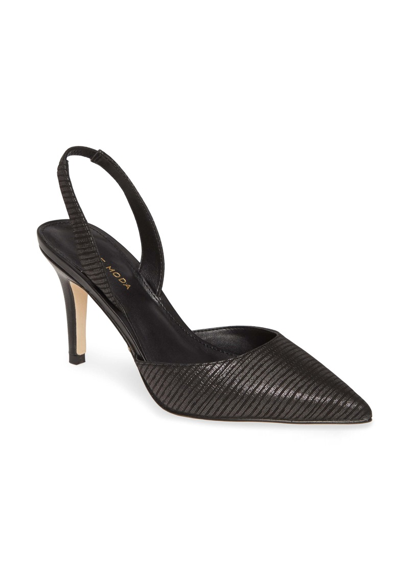 Pelle Moda Ima Pointed Toe Slingback Pump (Women)