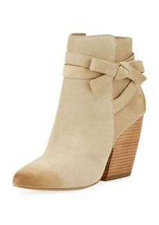 Pelle Moda Jax Suede Knotted Ankle Bootie
