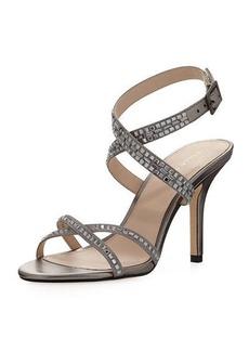 Pelle Moda Katya Crystal-Embellished Satin Sandal