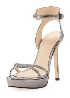 Pelle Moda Oanel Metallic Napa Platform Evening Sandal