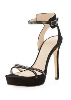 Pelle Moda Oanel Suede Platform Evening Sandal