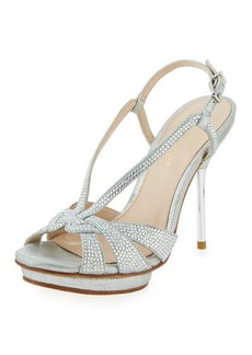 Pelle Moda Perry Crystal Suede Slingback Sandal