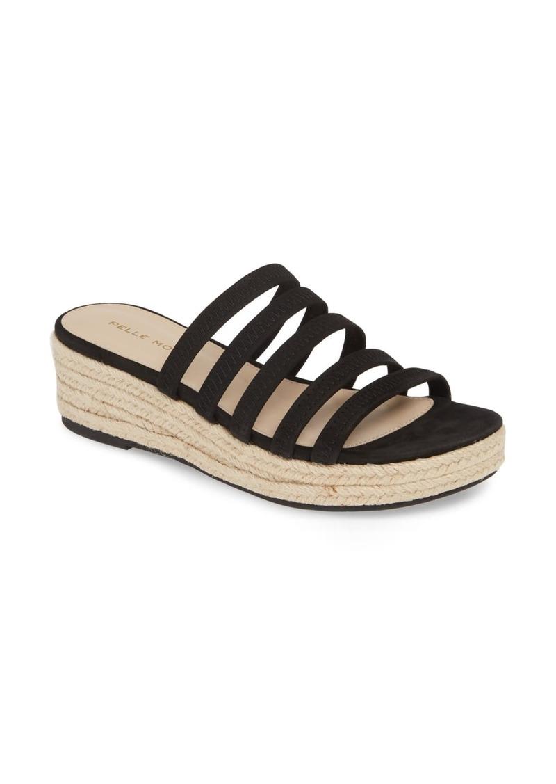 Pelle Moda Selby Strappy Platform Slide Sandal