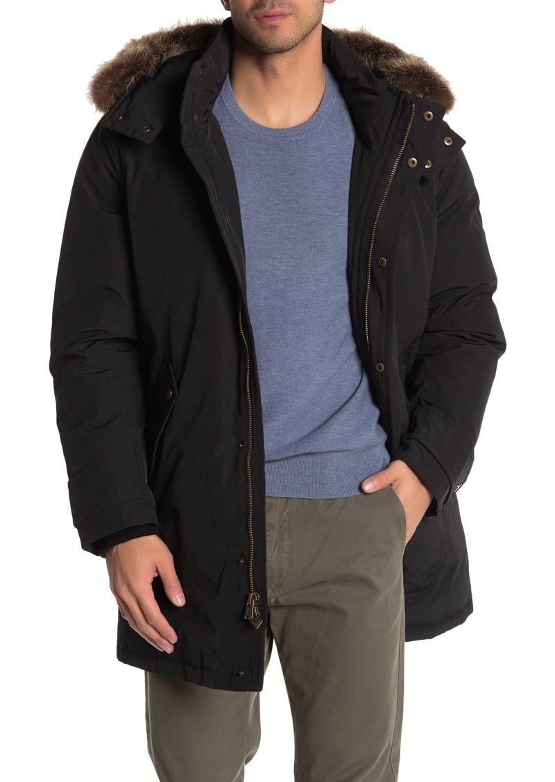 Pendleton Bryce Genuine Raccoon Fur Trim Hooded Down Jacket