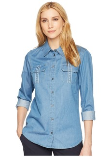 Pendleton Embroidered Cotton Chambray Shirt