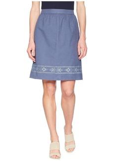 Pendleton Embroidered Hem Skirt