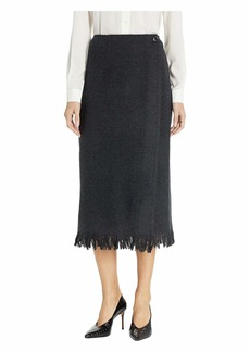 Pendleton Fringed Wool Wrap Skirt