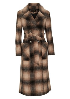 Pendleton Aurora Plaid Wool Blend Wrap Coat