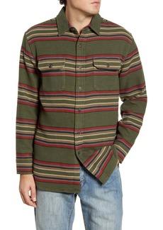 Pendleton Blanket Stripe Button-Up Flannel Overshirt