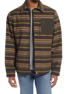 Pendleton Conway Stripe Waterproof Wool Blend Shirt Jacket