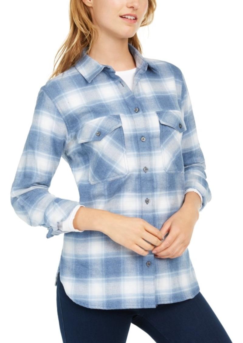 Pendleton Cotton Elbow-Patch Plaid Flannel Shirt
