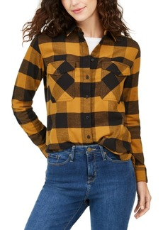 Pendleton Cotton Elbow-Patch Plaid Flannel Shirt