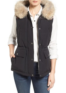Pendleton Down Vest with Genuine Coyote Fur Trim