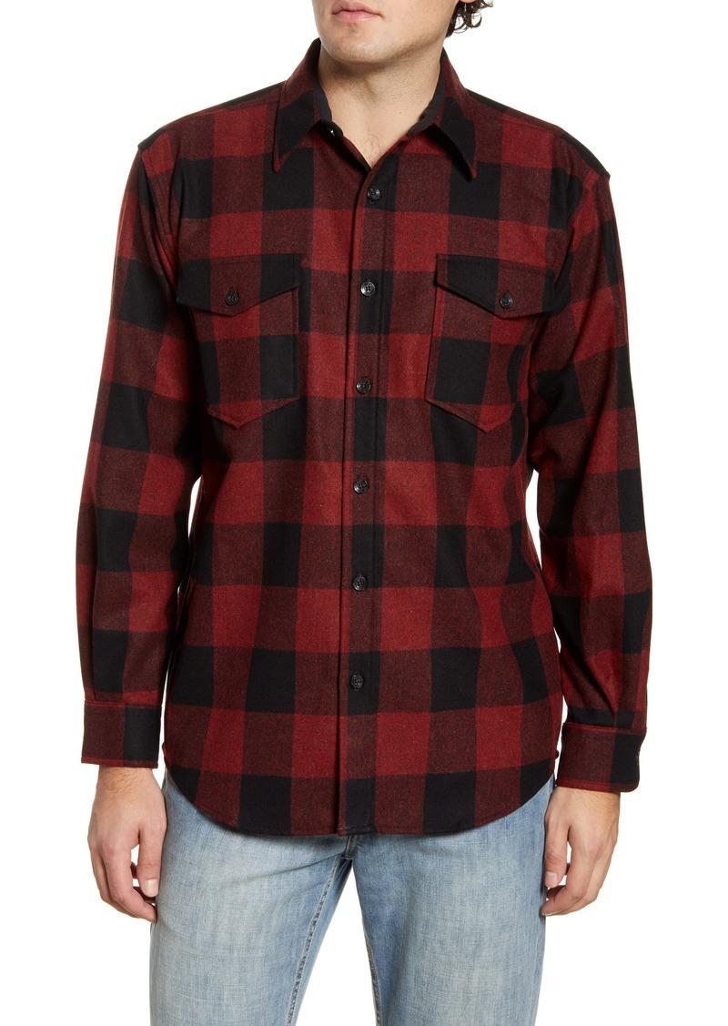 Pendleton Guide Buffalo Check Button-Up Wool Flannel Shirt