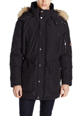 Pendleton Heritage Men's Denver Cotton-Blend Down Anorak Jacket with Fur Trim