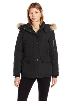 Pendleton Heritage Women's Bachelor Coat With Removable Faux Fur Lined Hood  L