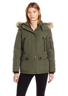 Pendleton Heritage Women's Bachelor Coat With Removable Faux Fur Lined Hood  S