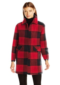 Pendleton Heritage Women's Plaid Oversized Wool Blend Coat  L