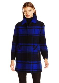 Pendleton Heritage Women's Plaid Oversized Wool Blend Coat  S
