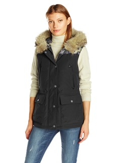 Pendleton Heritage Women's Pueblo Vest with Fur Collar  M
