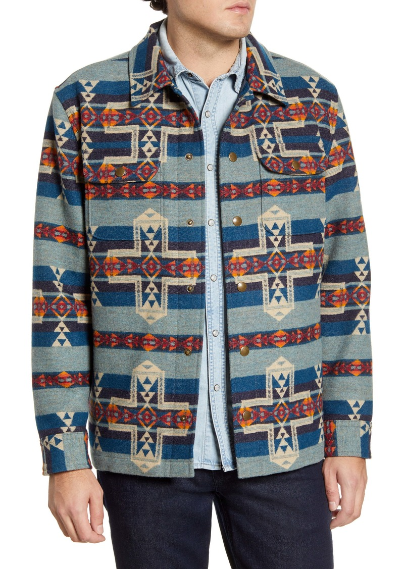 Pendleton Horizon Cross Jacquard Wool Coat