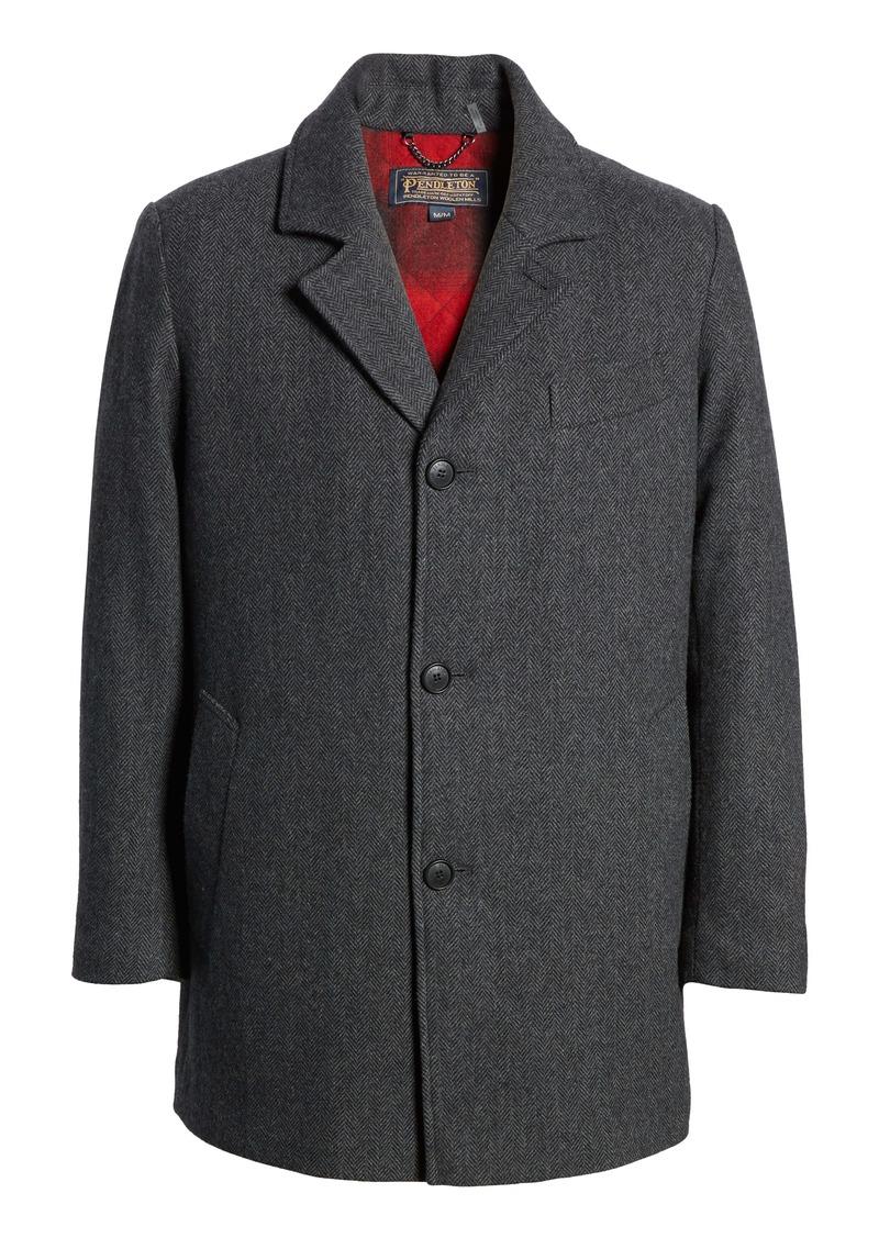 Pendleton Iconic Manhattan Mélange Wool Blend Coat