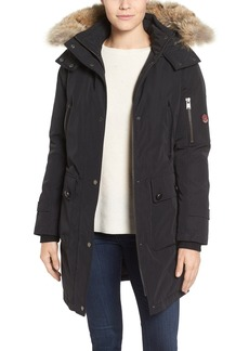 Pendleton Jackson Hooded Down Parka with Genuine Raccoon Fur Trim