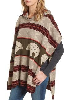 Pendleton Knit Hooded Poncho