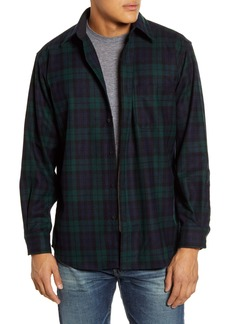 Pendleton Lodge Plaid Button-Up Wool Flannel Shirt