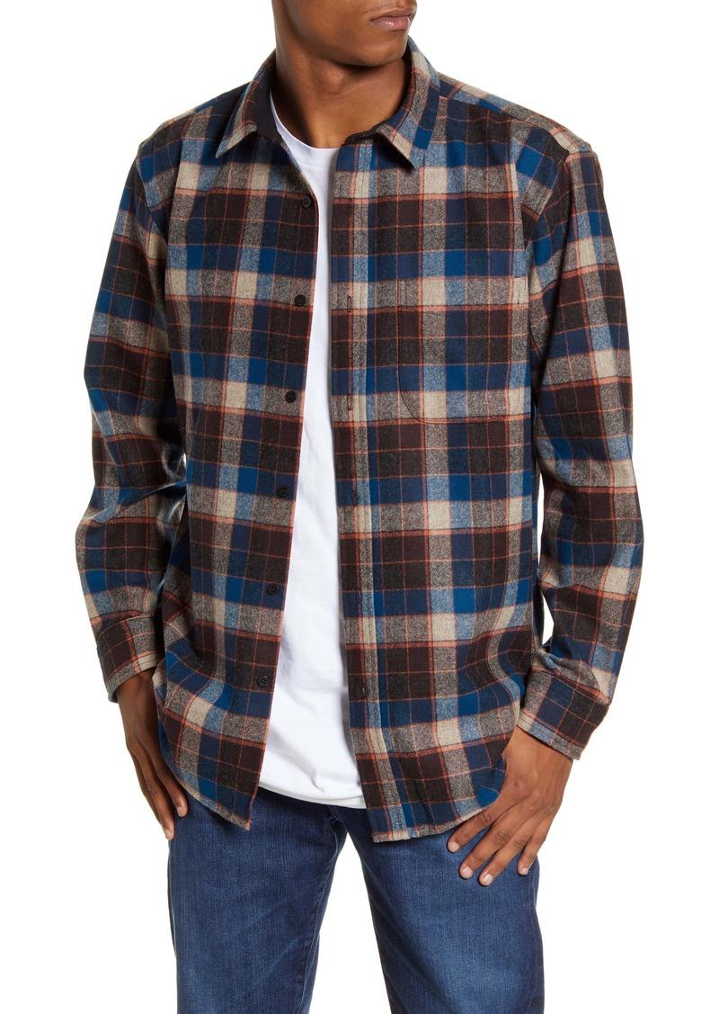 Pendleton Lodge Regular Fit Plaid Wool Button-Up Shirt