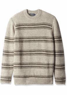 Pendleton Men's Alpaca Crew Long Sleeve Stripe Sweater Highland Neutral XXL
