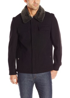 Pendleton Men's Boulder Tricot Wool-Blend Jacket with Shearling Collar