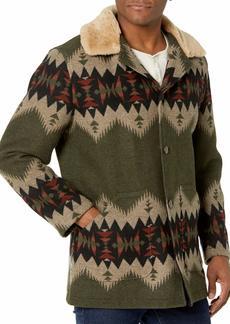 Pendleton Men's Brownsville Shearling Collar Wool Coat  MD